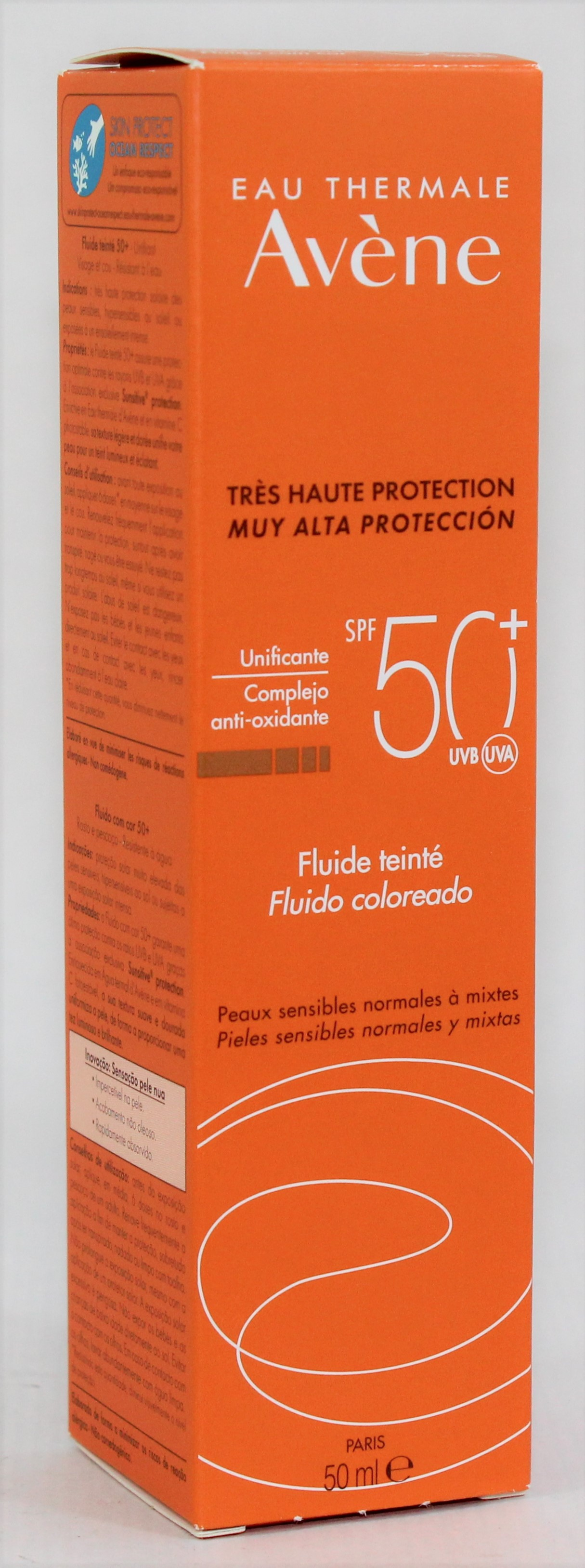AVENE SOLAR FLUIDO COLOR SPF50+ 50ML