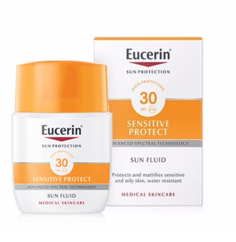 EUCERIN SUN PROTECTION 30 SPF FLUID SENSITIVE PR 50 ML