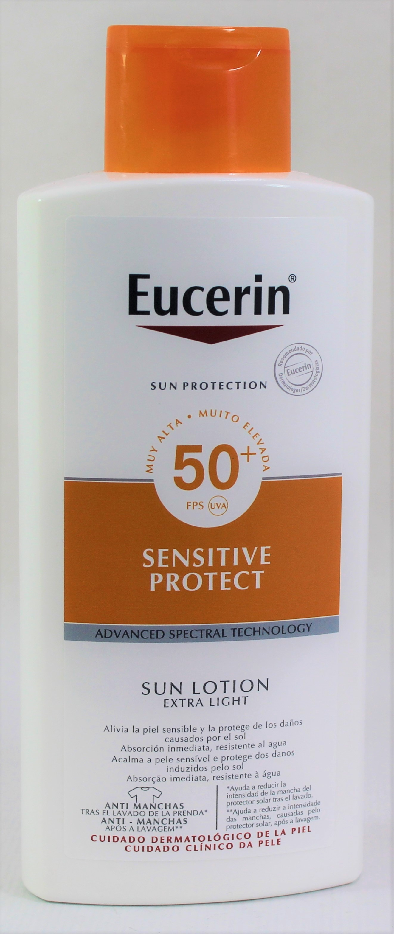 EUCERIN SUN SPF 50+ LOCION XTRA LIGHT SENS 400ML
