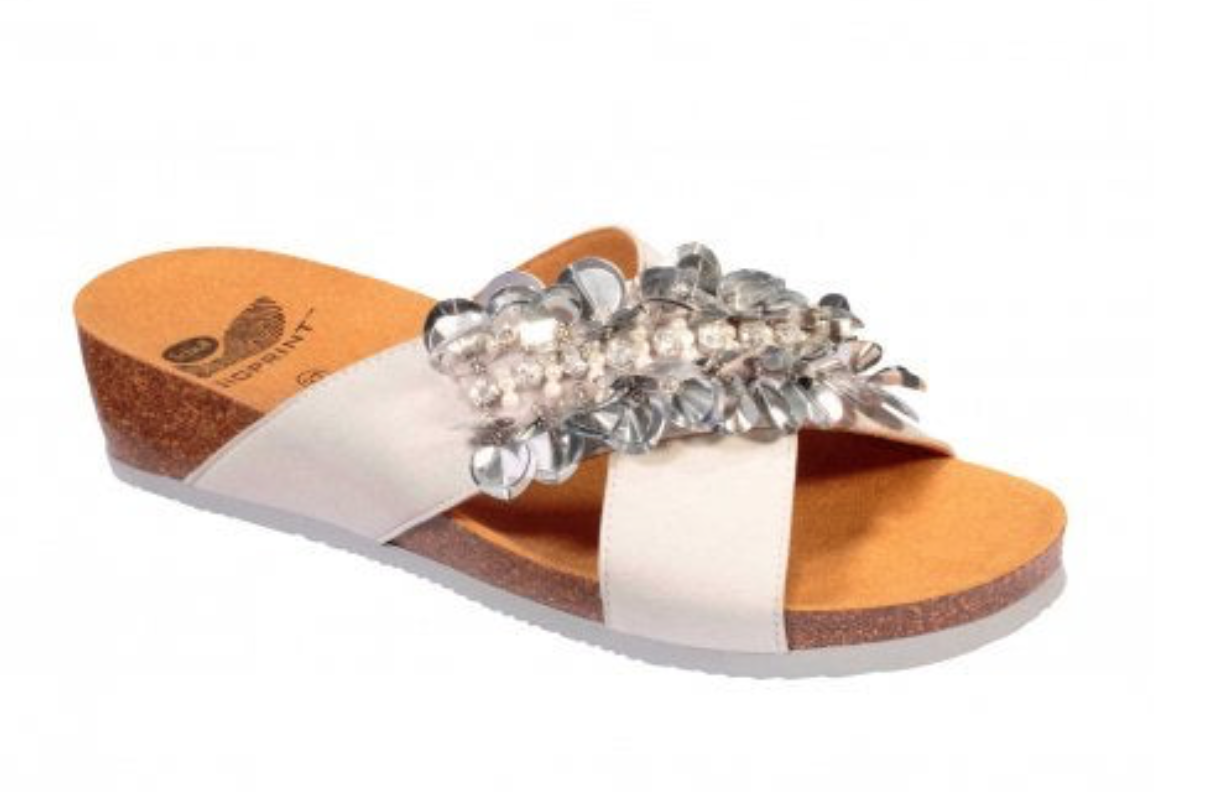SANDALIA SCHOLL CHANTAL CROSS PLATA