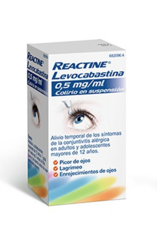 REACTINE LEVOCABASTINA 0.5 MG/ML COLIRIO 1 FRASC