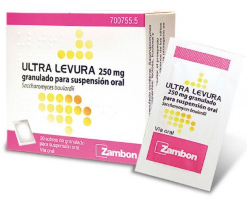 ULTRA-LEVURA 250 MG 20 SOBRES GRANULADO SUSPENSION ORAL
