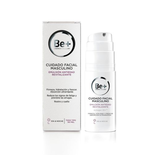 BE+ EMULSION ANTIEDAD CUIDADO MASCULINO 50 ML