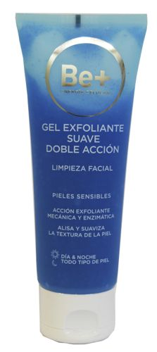 BE+ GEL EXFOLIANTE SUAVE DOBLE ACCION 75 ML