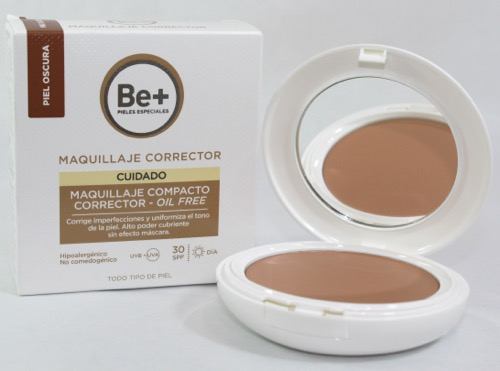 BE+ MAQUILLAJE COMPACTO P. OSCURA OIL FREE SPF30