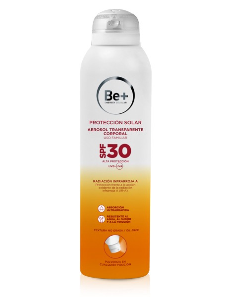 BE+ SOLAR SPF 30+ SPRAY TRANSPARENTE 200ML