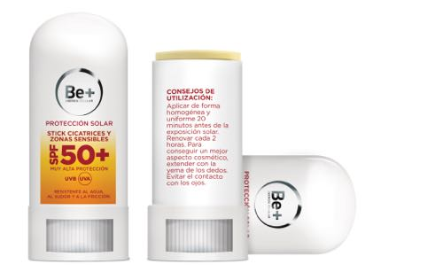 BE+ SOLAR SPF 50+ STICK CICATRICES