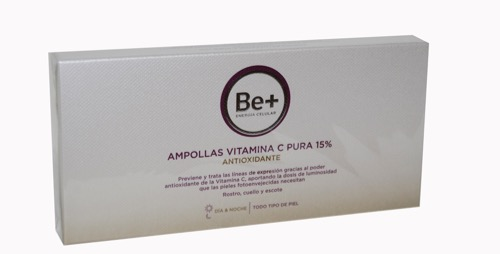 BE+ VITAMINA C 15% 10 AMPOLLAS