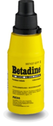 BETADINE 100 mg/ml SOLUCION CUTANEA 1 FRASCO 125 ml