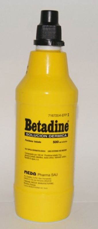 BETADINE 100 mg/ml SOLUCION CUTANEA 1 FRASCO 500 ml