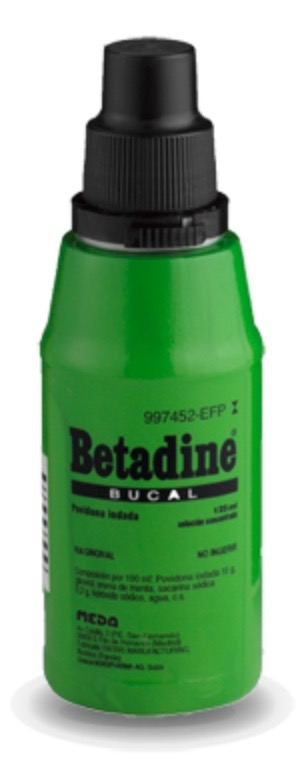 BETADINE BUCAL 100 mg/ml SOLUCION BUCAL 1 FRASCO 125 ml