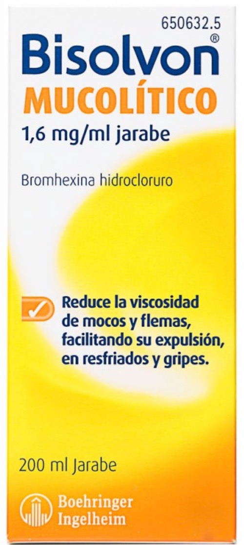 BISOLVON MUCOLITICO 1.6 MG/ML JARABE 200 ML