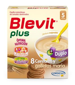 BLEVIT PLUS DUPLO 8 CEREALES CON GALLETA 700G