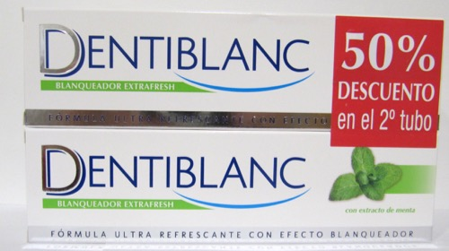 DENTIBLANC DUPLO BLANQUEADOR EXTRAFRESH 2X100ML