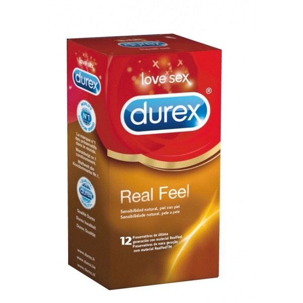 DUREX PRESERVATIVO REAL FEEL SIN LATEX 12 UDS