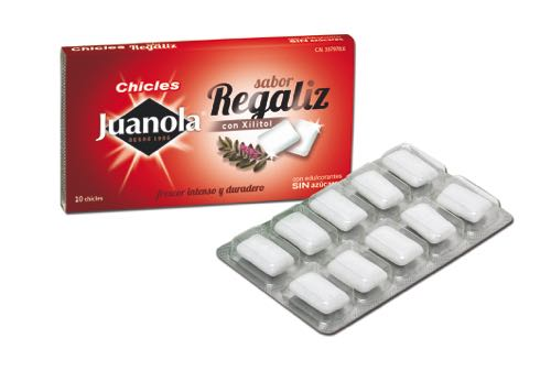 JUANOLA CHICLE SABOR REGALIZ 10 U