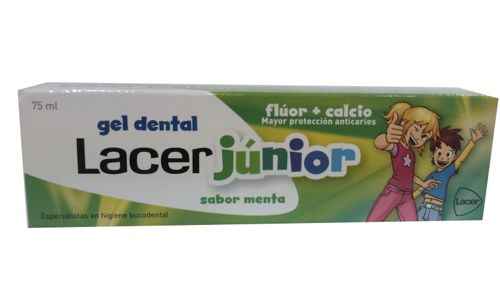 LACER GEL JUNIOR MENTA 75ML