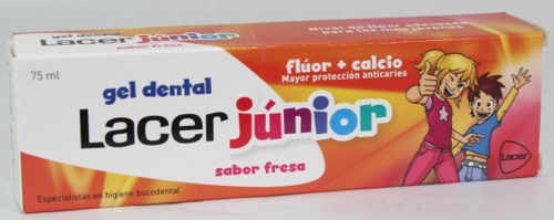 LACER JUNIOR GEL 75ML FRESA