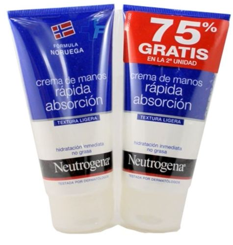 NEUTROGENA DUPLO CREMA MANOS RAP ABSORCION 75ML