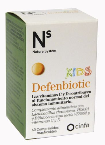 NS DEFENBIOTIC KIDS 60 COMP MASTICABLES