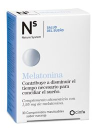 NS MELATONINA 30 COMP MASTICABLES 1.95 MG