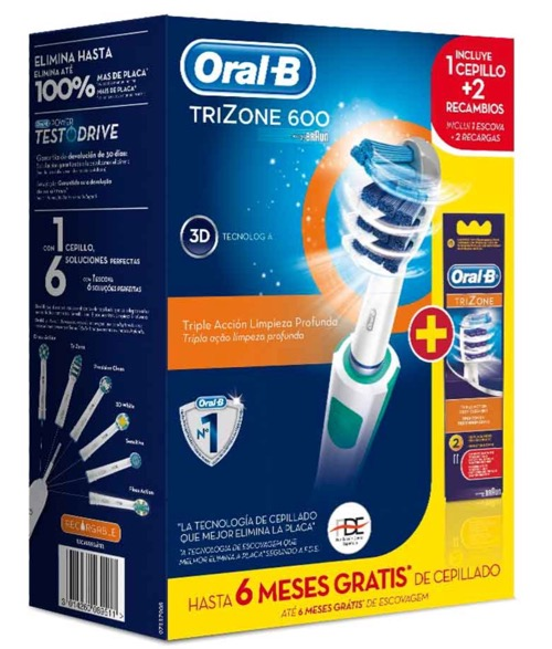 ORAL-B CEPILLO ELECTRICO PC600 TRIZONE +2  REC