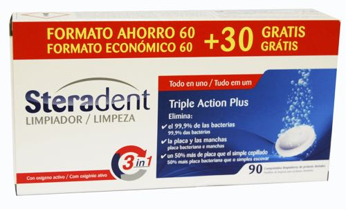 STERADENT TRIPLE ACCION PLUS  60 UNID