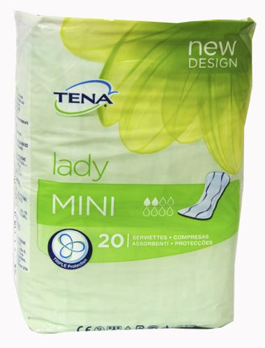 TENA LADY COMPRESA MINI 20 UDS