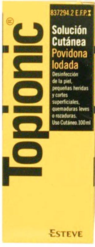 TOPIONIC 100 mg/ml SOLUCION CUTANEA 1 FRASCO 100 ml